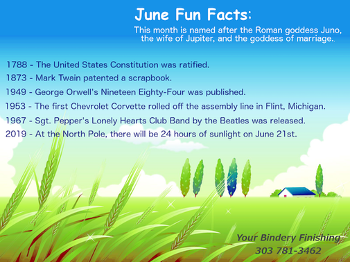 June Fun facts with country background.